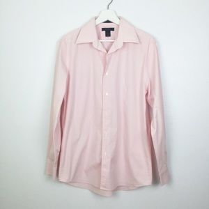 Express Pink Long Sleeve Stretch Button Down ▪️